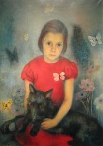 Павел Челищев. Девочка с бабочкой (1934)