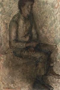 Павел Челищев. Портрет сидящего молодого человека (1927)