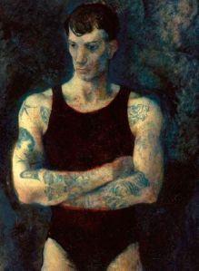 Павел Челищев. Портрет мужчины с тату