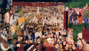 Джеймс Энсор. Въезд Христа в Брюссель (1888)