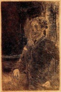 Джеймс Энсор. Автопортрет (1889)