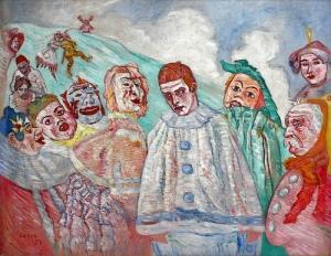Джеймс Энсор. Отчаяние Пьеро (1910)