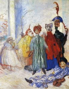 Джеймс Энсор. Странные маски (1892)