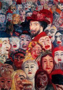 Джеймс Энсор. Энсор с масками (1899)