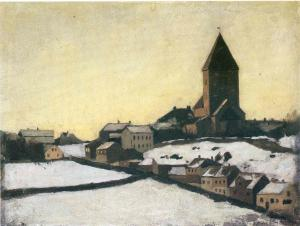 Эдвард Мунк. Старая церковь в Акере (1881)