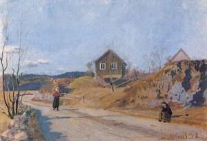 Эдвард Мунк. Долина Мари (1881)