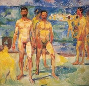 Эдвард Мунк. Купающиеся мужчины (1907)