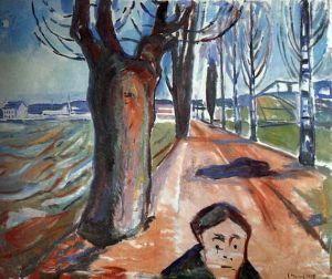 Эдвард Мунк. Убийца в переулке (1919)