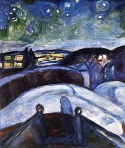 Эдвард Мунк. Звездная ночь (1923-24)