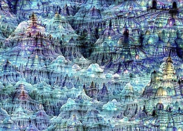 Результат нескольких итераций полностью случайного изображения. Изображение: MIT Computer Science and AI Laboratory