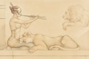 Michael Parkes. Lion's Song