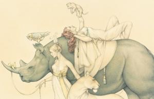 Michael Parkes. Traveling Circus