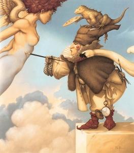 Michael Parkes. Sky Painting